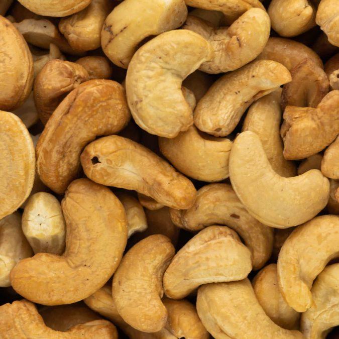 Cashewnoten drooggeroosterd