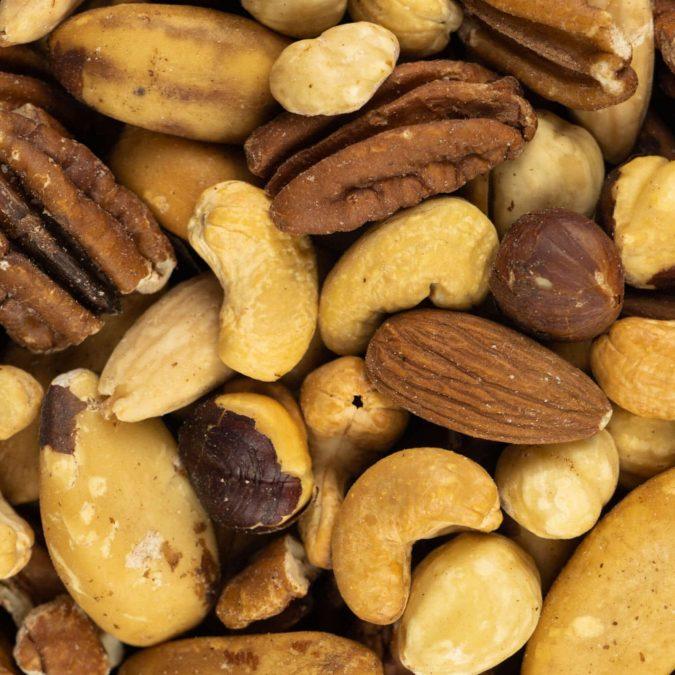 Gemengde noten drooggeroosterd