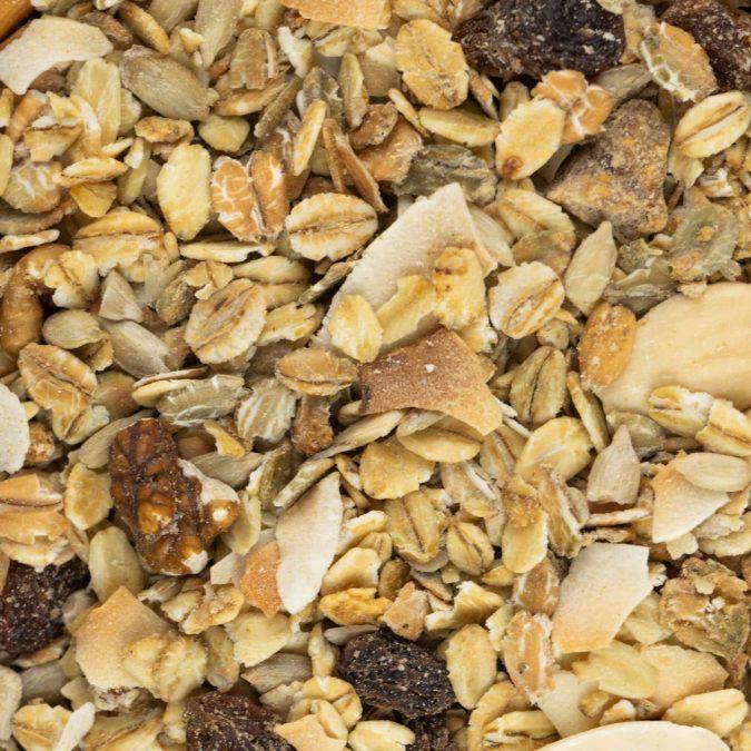 Granola kokos quinoa zoom