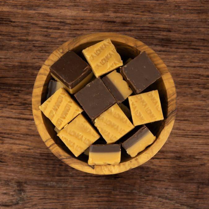 Lonka fudge vanille/chocolade