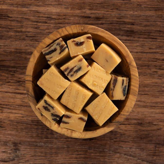 Lonka fudge rum rozijnen